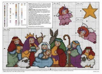 Nativity Scene. Cross Stitch