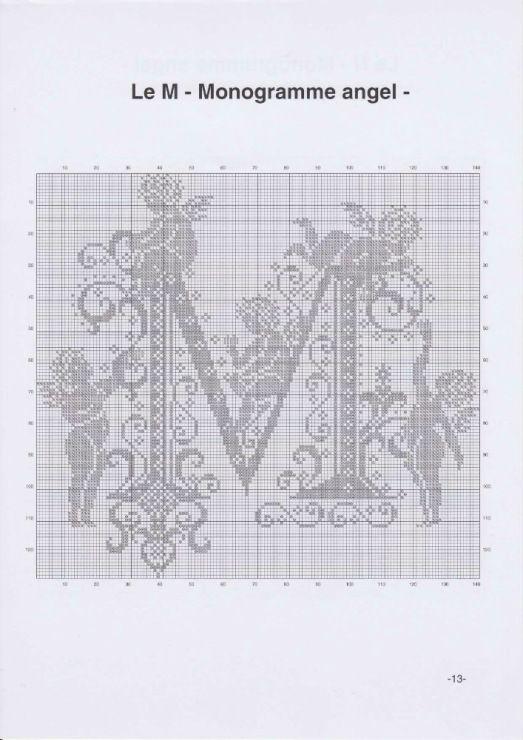 Letter M - Monogram Angel