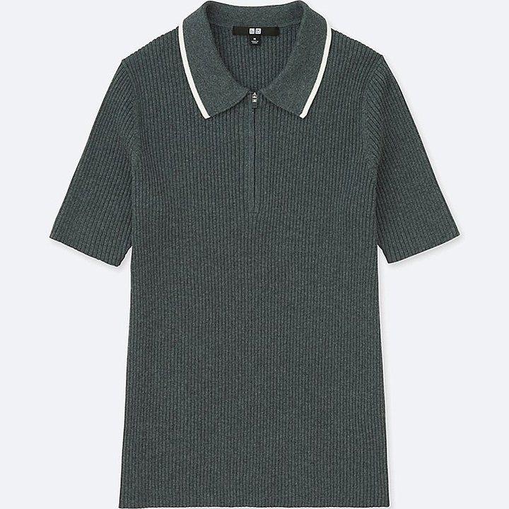Uniqlo Women's Active Short-sleeve Polo Sweater