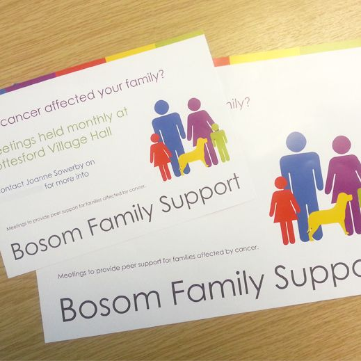 Bosom Family Support Business Cards