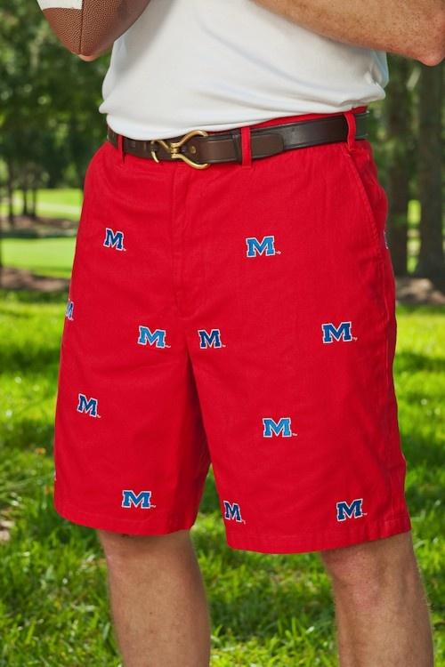Ole Miss Red Shorts - Men