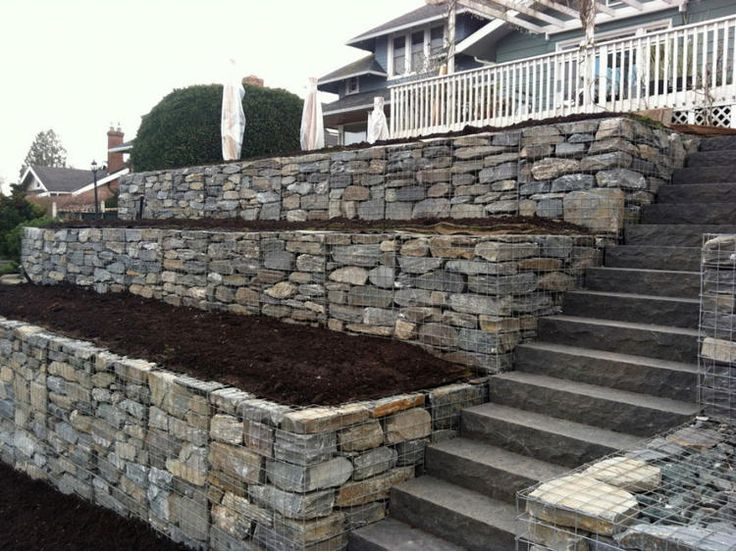 381 Best Gabion Wall Ideas Images On Pinterest | Gabion Wall, Wall