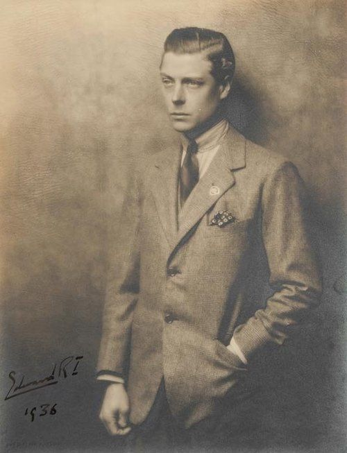 Edward VIII (King of Great Britain, later Duke of Windsor, 1894-1972) Portrait photograph by Hugh Cecil. I think he looks a little like David Bowie.