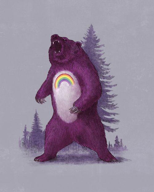 Scare Bear: Terry O'Neil, Scarebear, Scared Bears, Bears Prints, Terry Fans, Illustration, Art Prints, Care Bears, Bears Art