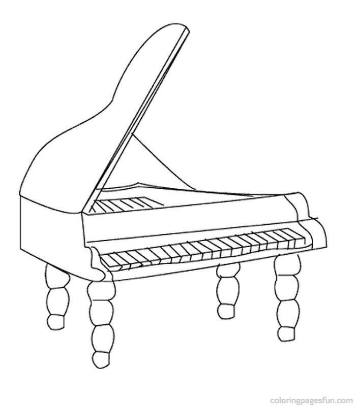 musical instruments coloring pages 50