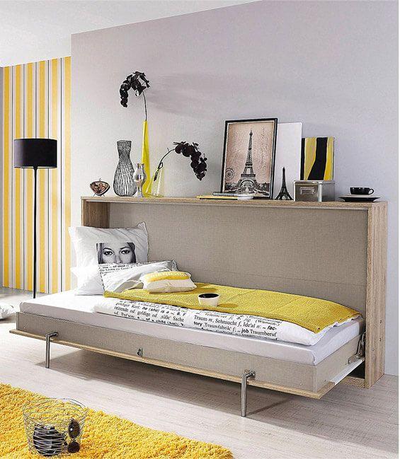 modernes klappbett fr kleine rume - Mobel Fur Kleine Wohnzimmer