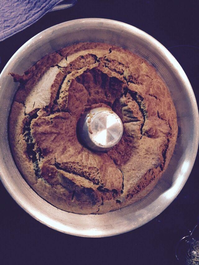 Queque con harina integral y stevia