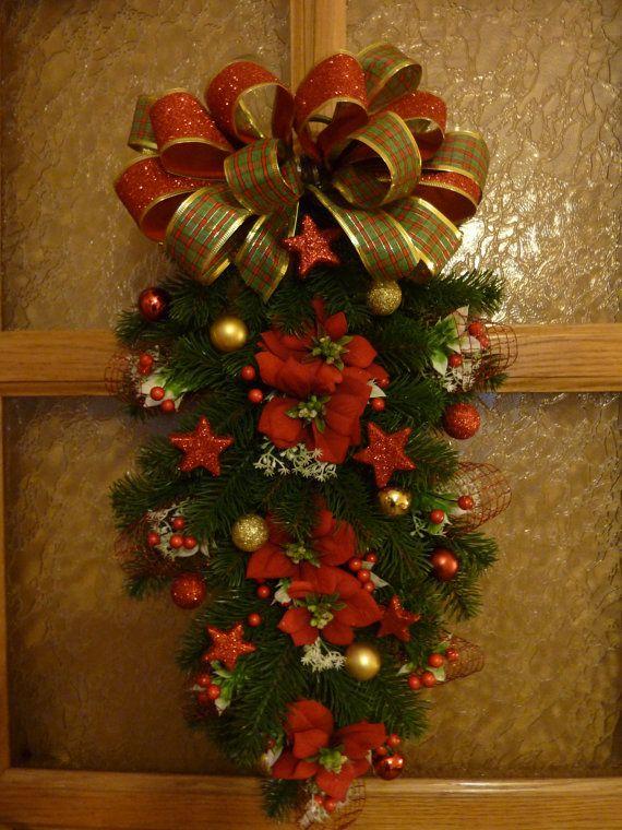Christmas wreathChristmas vertical by FlowerKingdomArt on Etsy