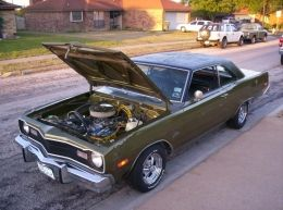1974 Dodge Dart Swinger Muscle Car by Button http://www.musclecarbuilds.net/1974-dodge-dart-swinger-build-by-button