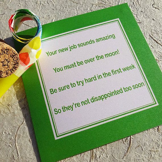 Funny new job card  promotion  naughty card  by LuckJudgementGifts
