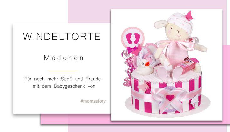 Windeltorte Mädchen 1.214 | Baby-Geschenk-Geburts-Taufe-Babyparty   – geschenke
