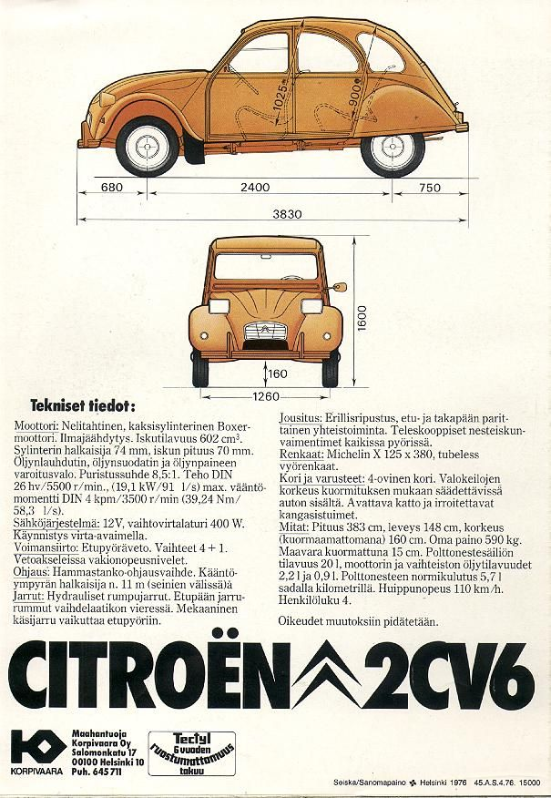 The Fantastic Citroen 2cv Pages Citroen Citroen 2cv Car Brochure