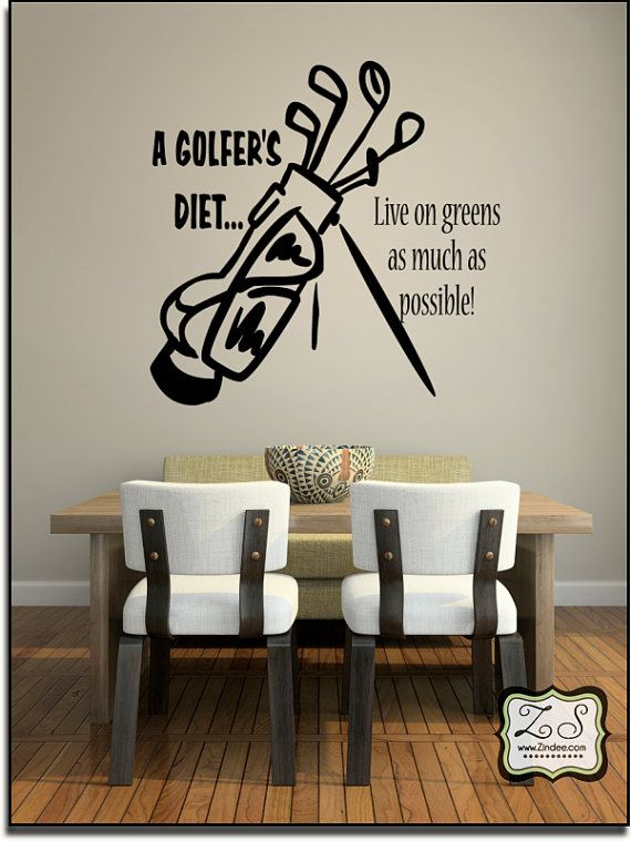 A Golferu0027s Diet.live On Greens As Much As Possible X Vinyl Wall Art / Vinyl  Decal
