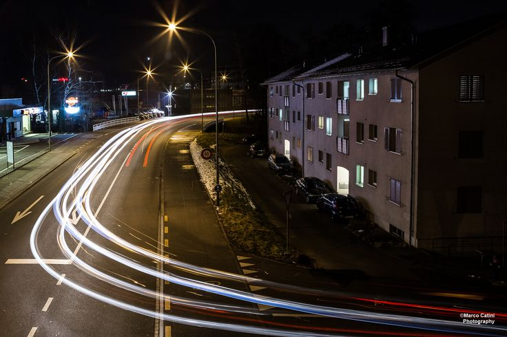 Light traffic in Dietikon, Switzerland.