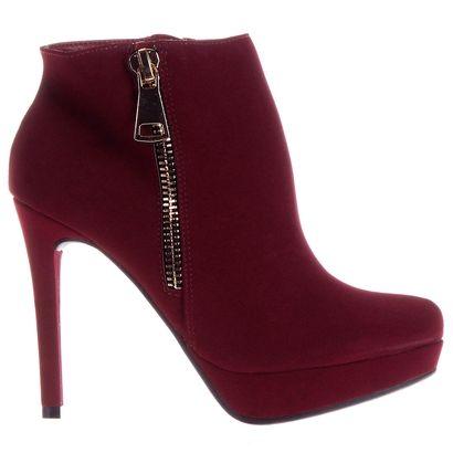 Compre Ankle Boot Via Marte Meia Pata c/ Zíper Vinho na Zattini a nova loja de moda online da Netshoes. Encontre Sapatos, Sandálias, Bolsas e Acessórios. Clique e Confira!