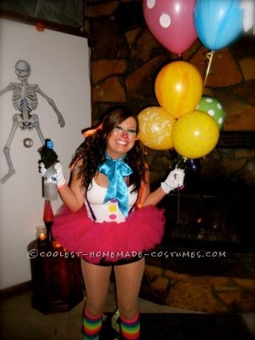This past year for some strange reason I had the urge to dress up as a clown. I made the sexiest homemade Clown costume myself after some heavy duty c...