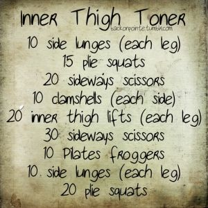 Inner thighs workout- great idea for all you fellow dancers :)