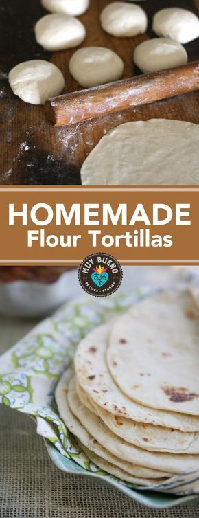 Homemade Flour Tortillas + Video - Muy Bueno Cookbook This flour tortilla recipe is very easy, and if you've never tasted homemade flour tortillas before, you should really give this a try. When you compare these light and delicious tortillas to store-bought, there really is no comparison. My grandma made the best homemade flour tortillas. It was a way to nourish her family and continue a tradition.