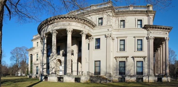 Back view of Vanderbilt Mansion, Hyde Park, NY