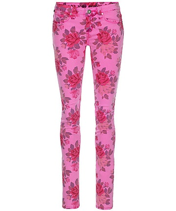 """Ladies Jeans """"Kosai"""" by one green elephant  #jeans #hose #onegreenelephant #floral #blumenmuster #pink #print"""