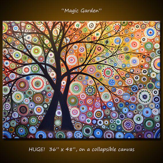 Amy Giacomelli Painting Modern Landscape Magic por AmyGiacomelli