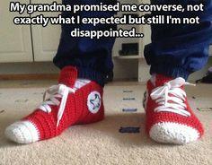 Crochet Converse slippersImágenes graciosas, humor, diversión, chistes #Humor #Fun #Joke #Funny #Jokes #Risas #Hahaha #Jajaja @FiorellaTwit