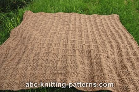 ABC Knitting Patterns - Lattice Baby Blanket