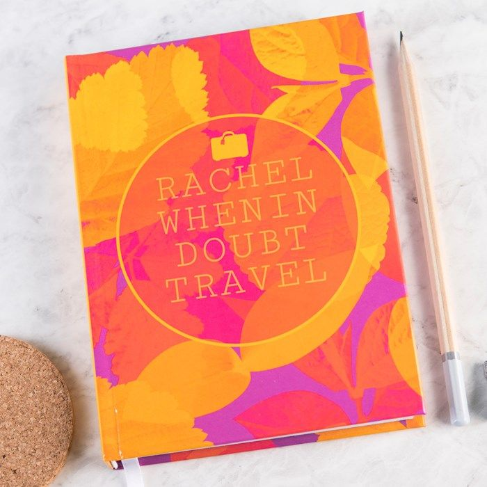 Personalised Diary - When In Doubt Travel   GettingPersonal.co.uk