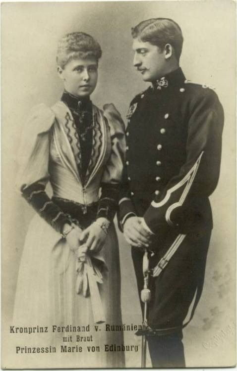 Princess Marie of Edinburgh and her fiancé Crown Prince Ferdinand of Romania