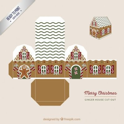 CASITA DE PAPEL: Christmas cut out box by freepik