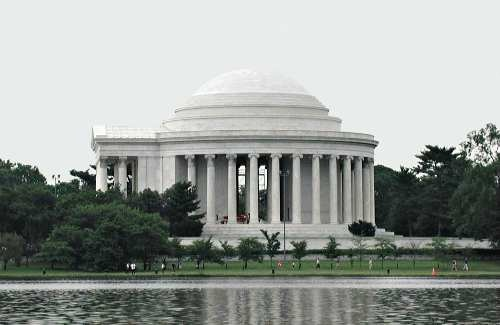 The Jefferson Memorial in Washington DC was built in remembrance of Jefferson's accomplishments. It sits on the south side of the tidal basin. It was modeled on the design of Jefferson's home Monticello and was finished in 1943.