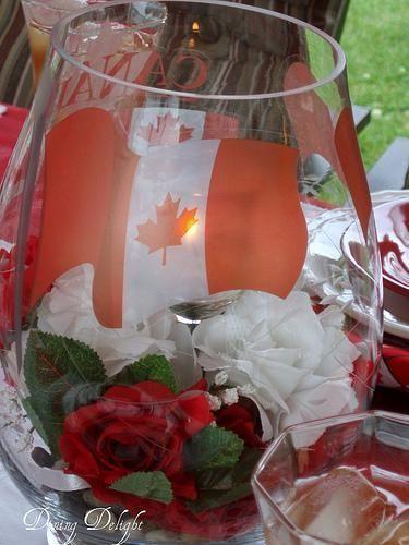 canada day table centerpiece idea