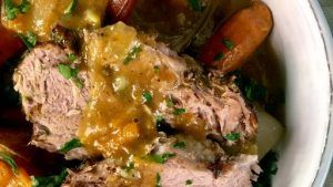 Roasted Pork Shoulder with Pan Gravy MICHAEL SYMON - Chew Recipes