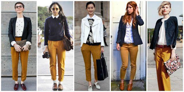 De la moda y otros demonios.: Consultorio de estilo: ¿cómo combinar un pantalón mostaza?