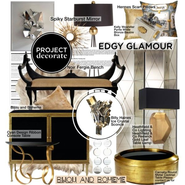 project decorate edgy glamour with bijou and boheme by pisces7 on polyvore - Cyan Hotel Decorating