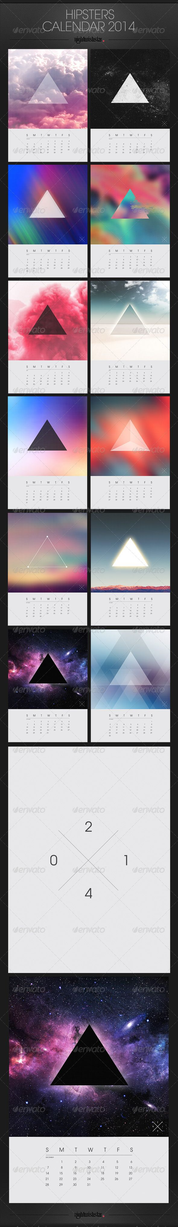 Hipster Calendar 2014 #GraphicRiver Hipster Calendar 2014 zip includes: 1 psd file (CMYK) and information.txt file; 12 months sites + cover; PSD file with all the months sites in folders – very well organized; Calendar size: A3 + bleed .25; free font used: .fontsquirrel /fonts/TeX-Gyre-Adventor zip includes my artwork but you can easy add your graphics; check also my FB covers (same style!) in my portfolio; Visit also Mesmeriseme and Monsterunderbed ! ...