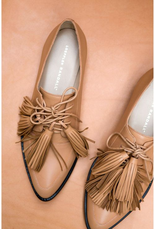 love these nude brogues with tassels!
