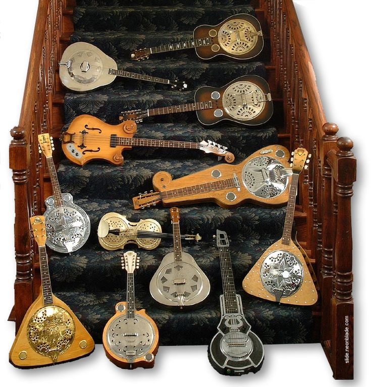 This is what I found coming down the stairs on Christmas morning!!! (sadly it was the picture not the actual resonators) (though have you ever seen a resonator violin before? --- https://www.pinterest.com/lardyfatboy/