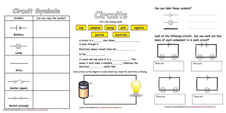 Electricity  U0026 Circuits Worksheets