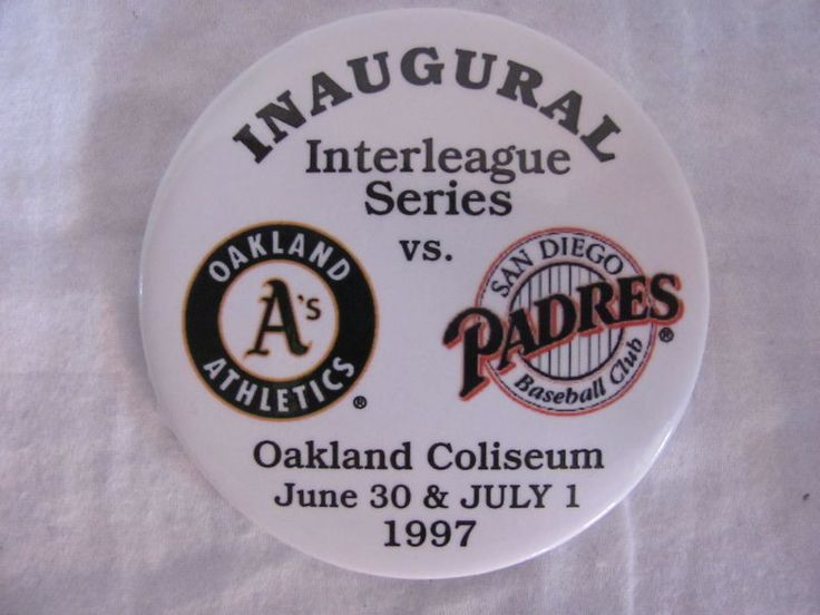OAKLAND A'S vs SAN DIEGO PADRES 1997 INAUGURAL INTERLEAGUE SERIES BASEBALL PIN #Athletics #NA #SanDiegoPadres