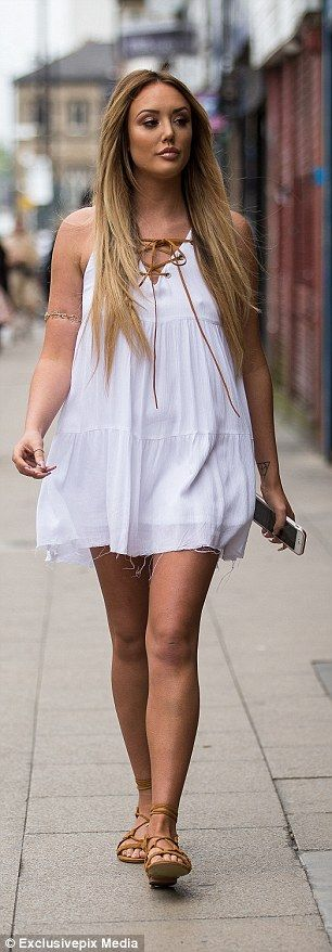 Charlotte Crosby gorges on HUGE burger before sporting host of flirty ensembles | Daily Mail Online