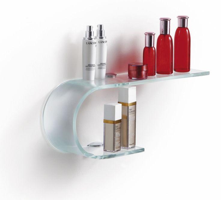 Glashylla till badrummet.