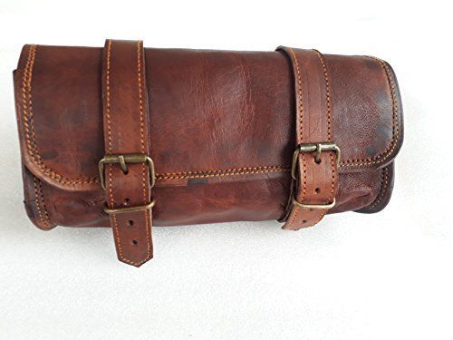 """Genuine Leather Vintage Motorcycle 2 strap buckle closure Tool Bag Brown Handlebar Sissy Bar Tool Pouch Roll Bags -10"""" #Genuine #Leather #Vintage #Motorcycle #strap #buckle #closure #Tool #Brown #Handlebar #Sissy #Pouch #Roll #Bags"""