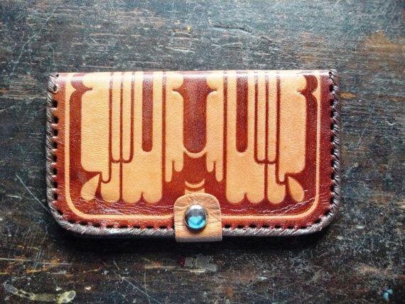 Vintage Soviet era real leather Purse, made in Estonia, Linda factory