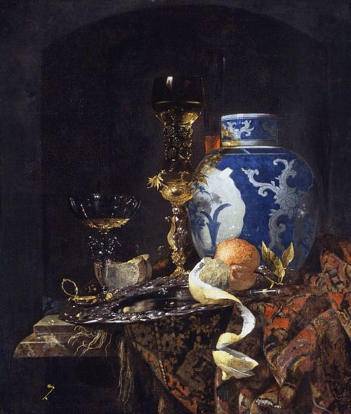 willem kalf still life with a late ming ginger jar