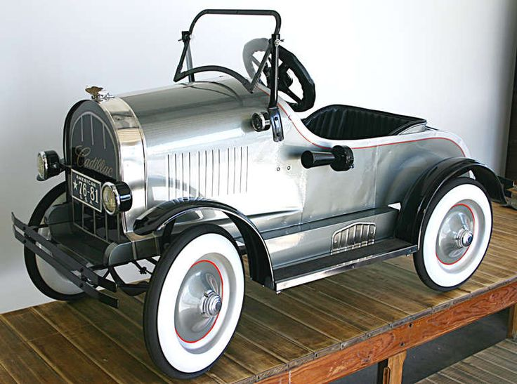 Early Cadillac Pedal Car | From a unique collection of antique and modern toys at http://www.1stdibs.com/furniture/more-furniture-collectibles/toys/
