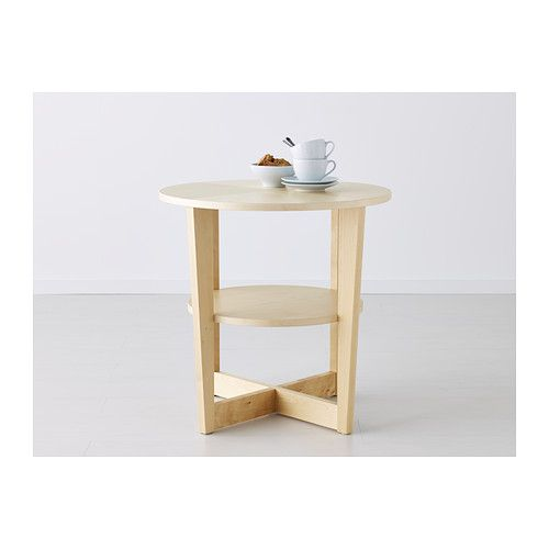 Vejmon stolik czarnobr z birch living rooms and living for Ikea round pedestal table