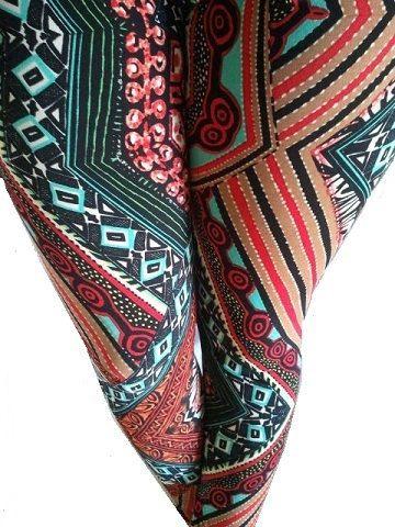 African Tribal Print Leggings by CocoElan on Etsy