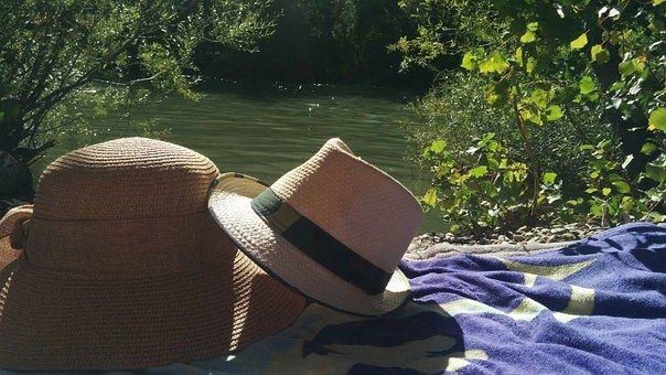 Καπέλο, Ποτάμι, Ήλιος, Νερό