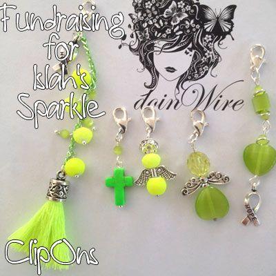 IslahsSparkle Clip-Ons - Various beads, crystals, cats eye, tassel dangly bits https://www.facebook.com/IslahsSparkle